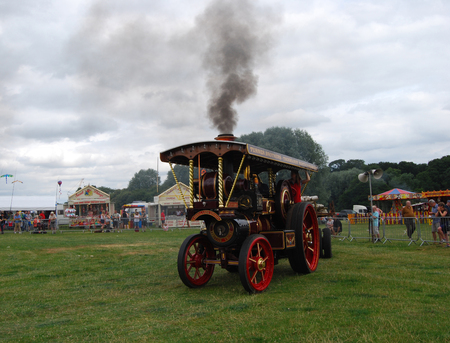 Steam Traction Engine Yorkshireman making smoke at the Great Yorkshire Steam Fair on 23rd July 2016.