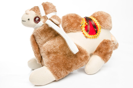 Plush toy camel photo