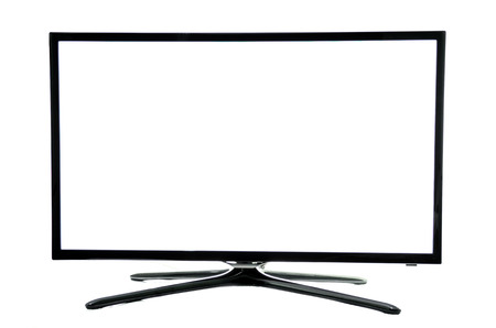 flat screen tv: LCD Display Tv Stock Photo