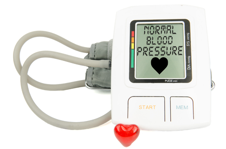 normal: normal blood pressure digital monitor Stock Photo