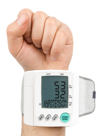 blood pressure monitor: Digital Low blood pressure monitor Stock Photo