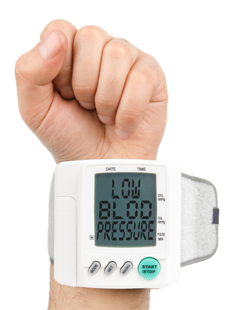 diastolic: Digital Low blood pressure monitor Stock Photo