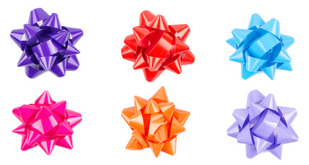 multi color: multi color Bow From Top Stock Photo