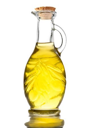 closed corks: olive oil bottle