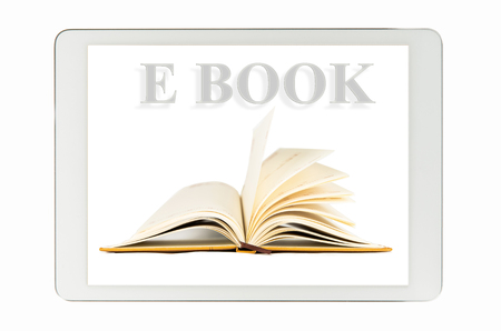 electronic organizer: E-Book on Generic Tablet