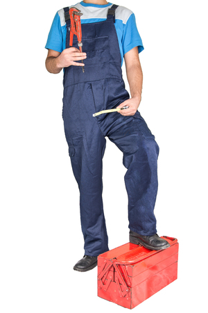 lower section: Man working with ToolBox