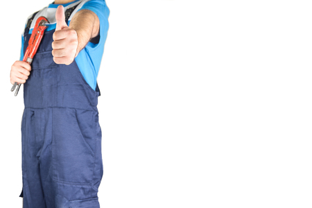 lower section: Worker Showing thumbs up