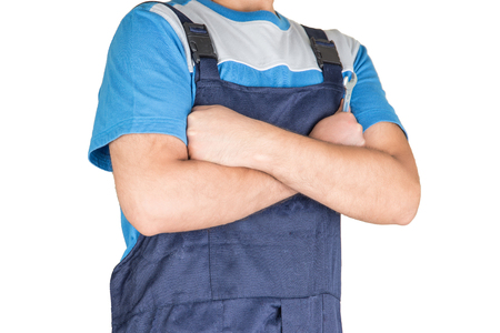 blue collar: Confident Blue Collar Worker