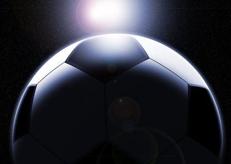 ballon foot: Football Plan�te Banque d'images