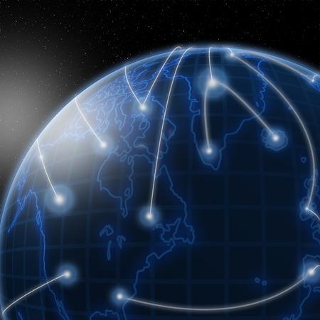 通信: グローバル ・ コミュニケーション 写真素材