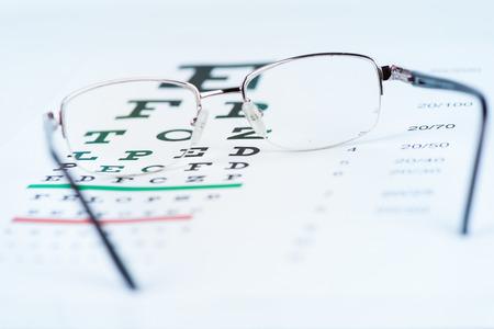eye chart: Glasses and Eye Chart
