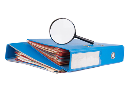 investigaci�n: Expedientes de investigaci�n Foto de archivo