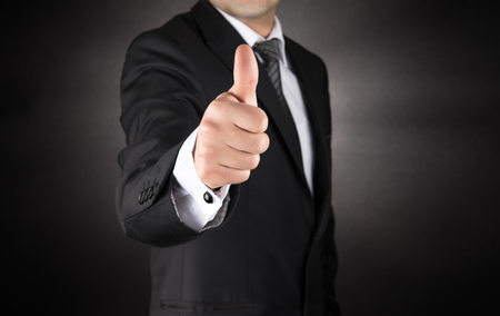 hand job: Businessman Gives Thumb Up