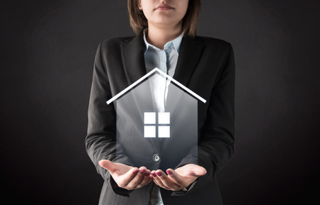 residential building insurance: House protection concept