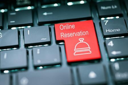tecla enter: Reserva en línea tecla Enter