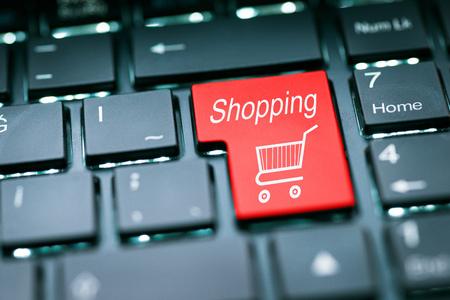 tecla enter: Shopping Enter Key Foto de archivo
