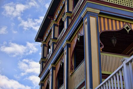 Painted Lady Victorian Building Editorial
