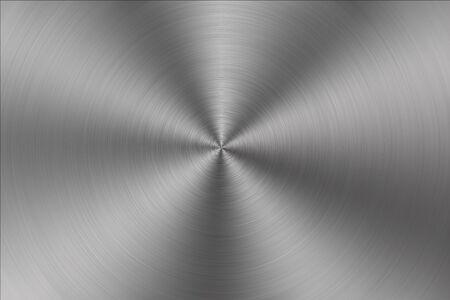 brushed metal texture: Circular brushed metal texture Stock Photo