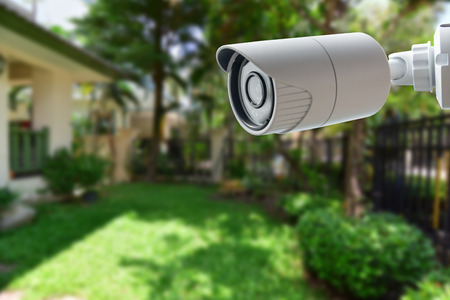 Cámara de seguridad CCTV Foto de archivo - 42121923