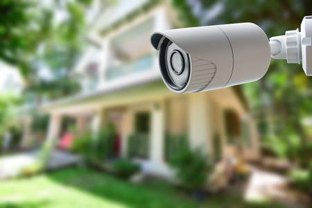 sistemas: Cámara de seguridad CCTV Foto de archivo
