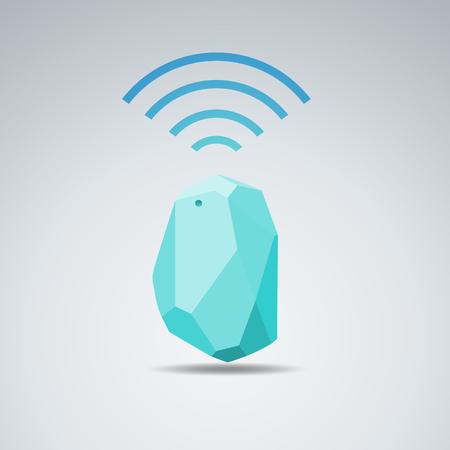 벡터 디자인 신호 장치 홈 및 사무실 레이더입니다. 모든 상황에 사용