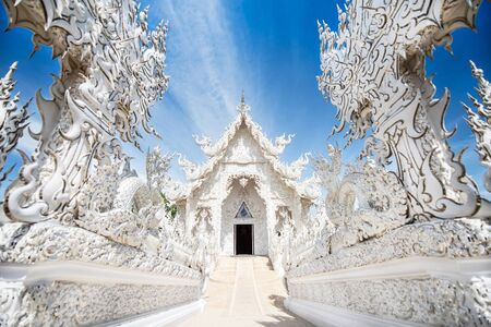Wat Rong Khun, White temple is a contemporary unconventional Buddhist temple.
