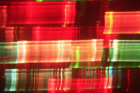 futuristically: light effect in red and green