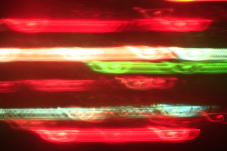 light effect in red and green