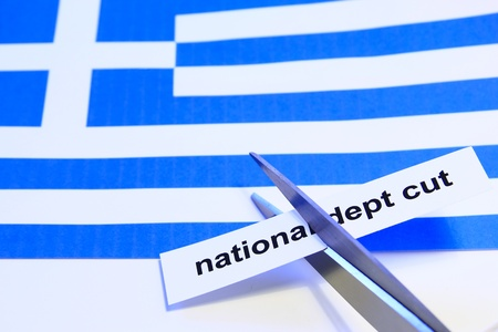 Symbol photo: depts cut for Greece Stock Photo