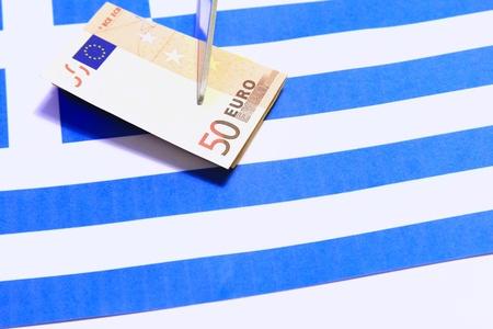 indebtedness: Foto indicativa: taglio reparti per la Grecia Archivio Fotografico