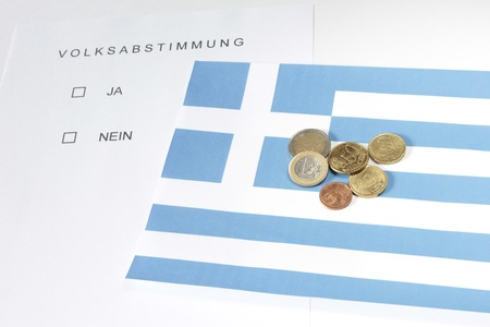 symbol photo: popular vote in Greece Stock Photo - 11213003