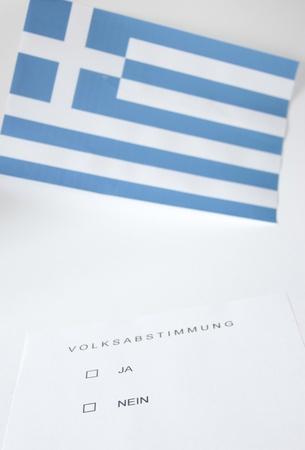 symbol photo: popular vote in Greece Stock Photo - 11212993