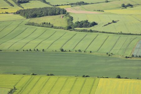 aerial view of arable land