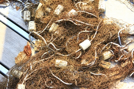 fishermans net: fishing net Stock Photo