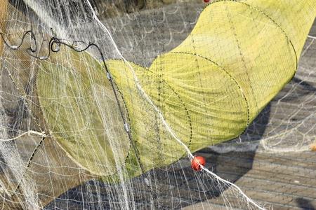 fishermans net: fish trap and fishing net