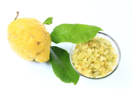 Candied lemon-peel with whole fruit Stock Photo - 12415188