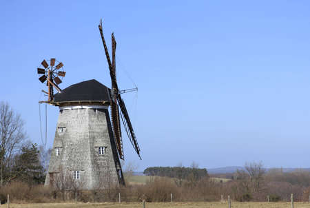 The Dutch windmill in Benz on the island of Usedom, Mecklenburg-Western Pomerania, Germany Stock Photo - 12415386