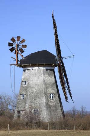 The Dutch windmill in Benz on the island of Usedom, Mecklenburg-Western Pomerania, Germany Stock Photo - 12415195