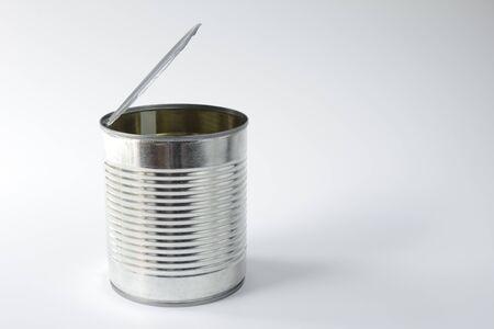 tin can: Empty tin can