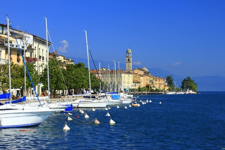 garda: View in  Sal� on Lake Garda, Italy