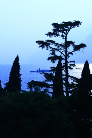 evening mood at Lake Garda, Italy photo