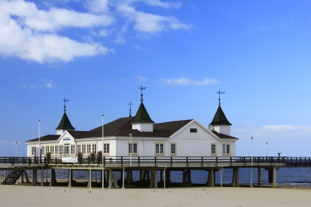 Pier of Ahlbeck, Island of Usedom, Baltic Sea, Germany Stock Photo