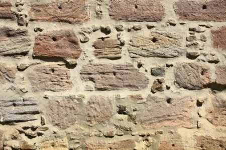 middle joint: decorative old weathered wall Stock Photo