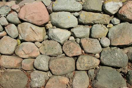 erratic: Fieldstone wall of boulders