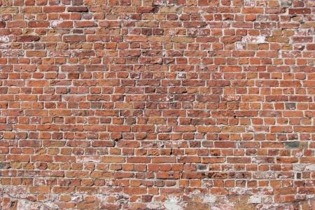 historische: Decoratieve oude bakstenen muur