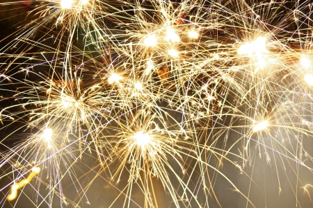 Fireworks on New Year s Eve photo
