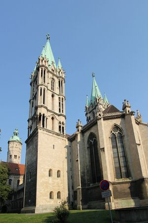 The Cathedral of Naumburg, west towers and early gothic west choir, Naumburg  Saale , Saxony-Anhalt, Germany Stock Photo - 17998560
