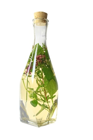 vinegar: Herb vinegar Stock Photo