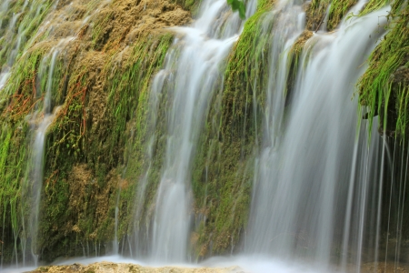 swabian: The waterfall of Bad Urach Swabian Alb, Baden-Wuerttemberg, Germany