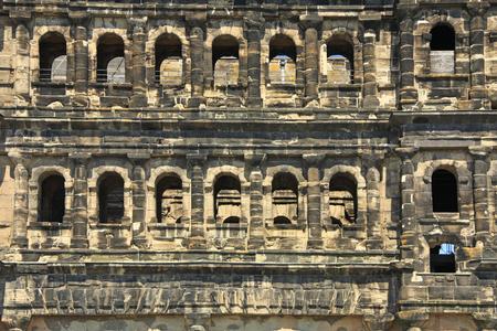 2nd century: Porta Nigra, Trier, Germany, city gate from the Roman period, 2nd century Stock Photo